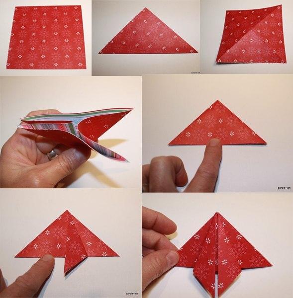 Открытка на новый год оригами своими руками