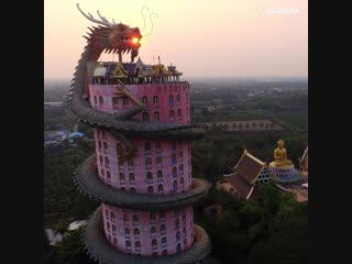 Храм в виде гигантского дракона в Таиланде