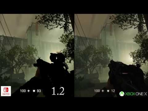 Wolfenstein 2 Switch Patch 1.2 Comparison with XBox One 720p
