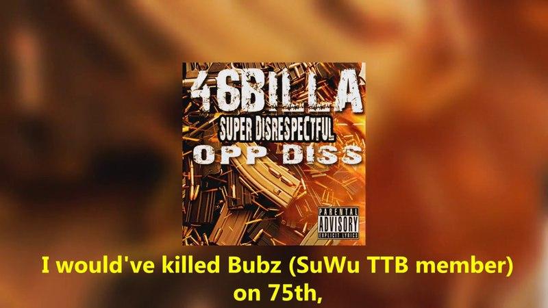 LYRICS: 46Billa - SUPER DISRESPECTFUL OPP DISS (MOB, 051, STL.EBT, JARO CITY, SuWu TTB, 757 DISS)