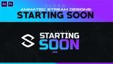 PSAE Tutorial Animated Stream Designs Clean Starting Soon Screen