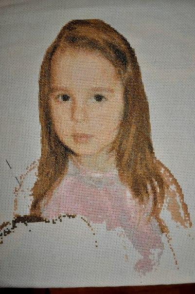 вышивка крестом девочка с