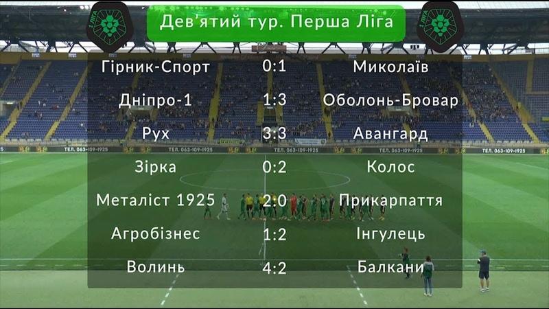 ПФЛ - Усі голи дев'ятого туру Першої Ліги України