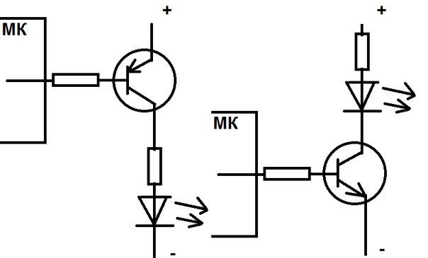 Подключить транзистор pnp или