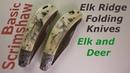 Scrimshaw Steps by Adams - Elk and Deer on Knives