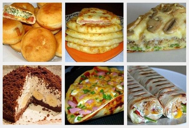 """Все блюда готовятся очень легко и быстро!  ДОЛЖНО БЫТЬ В КОПИЛКЕ КАЖДОЙ ХОЗЯЙКИ ;)  1. Вкуснейшие пирожки """"Бомбочки"""" 2. Сочные сырные лепешки"""