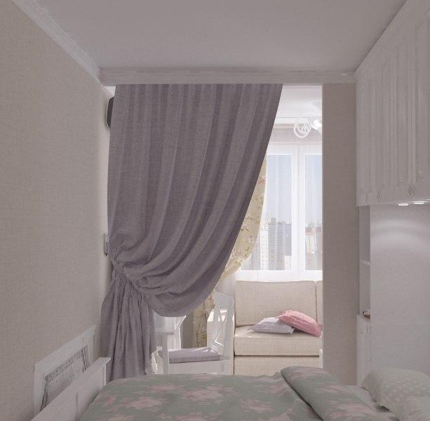 Концепт квартиры-студии 22 м для девушки.