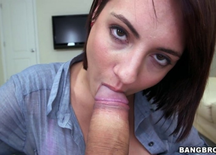 Brunette Gets Fucked And Swallows Cum