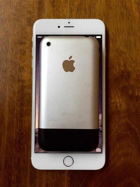 iPhone 6 Plus в сравнении с первым iPhone