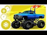 Un Camion Monstruo, Coche de Policía, Camión de Basura. Caricaturas de carros. Tiki Taki Camiones
