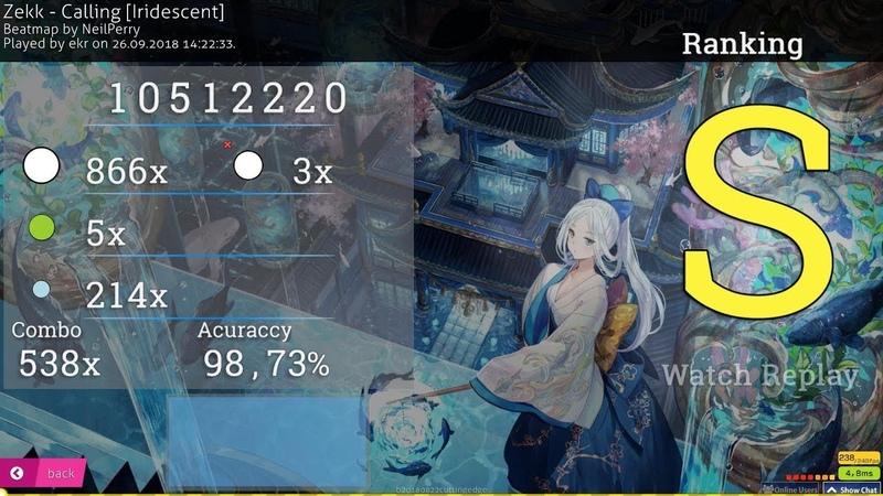 Osu!catch | ekr 🇯🇵 | Zekk - Calling [Iridescent] | 98.73% 3❌ 1 238pp