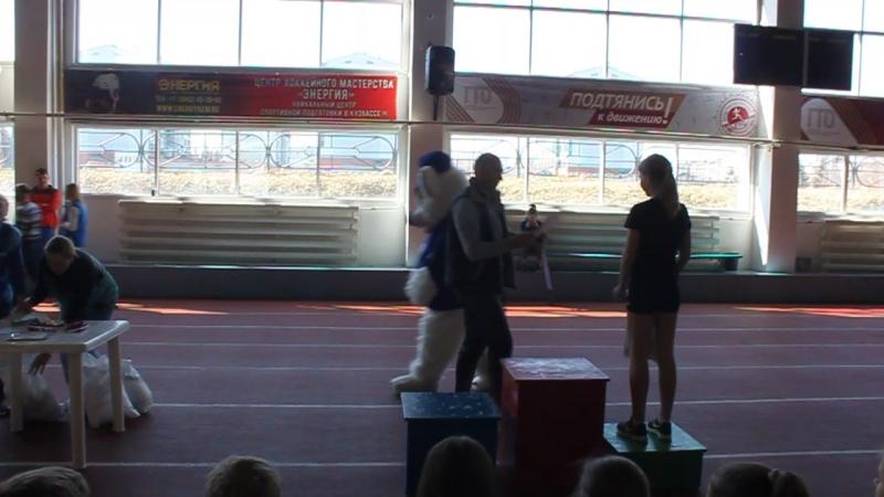Награждение победителей Первенства города по легкоатлетическому троеборью «Шиповка юных»