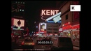 Night Drive on Broadway New York in 1970 HD from 35mm
