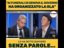 Riccardo Olgiati Renzi Funerali di Genova M5S e Lega hanno organizzato la ola da curva