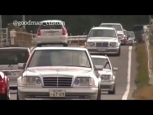 Mercedes-Benz w124 E500 wolf стая волков