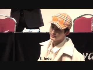 190119 리패키지 앨범 상암 팬싸 프리뷰 - 뒤까지 와줘서 고마워 ㅠㅡㅠ - 가까이오니 더 못찍는 나... 눈덕했찌 핳 - 김한빈 비아이