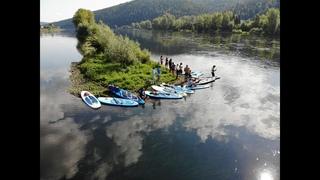 Как мы весело прогребли более 30 км на Сапах, Сплав по реке Уфа. Кешбери нам помогает)