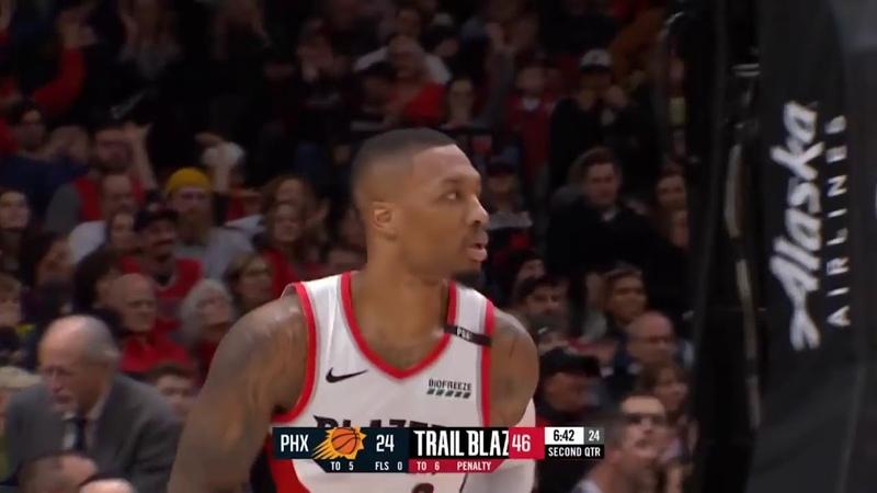 Портленд Трэйл Блэйзерс Финикс Санс Обзор NBA 07 декабря 2018