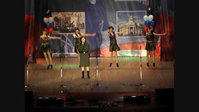 16.02.2018г г Кемерово на конкурсе поют с песней Защитники Отечества ДК Шахтёров