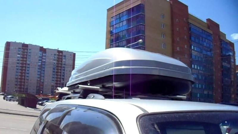 | Ваш Багажник | Mazda Tribute бокс Lux Viking серый глянец багажная система Lux аэро классик