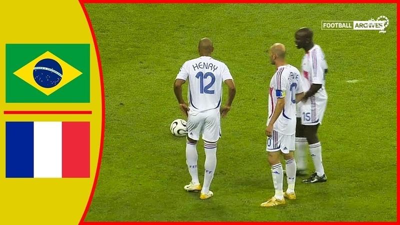 🔥 Бразилия - Франция 0-1 - Обзор Матча Четвертьфинал Чемпионата Мира 01/07/2006 HD 🔥