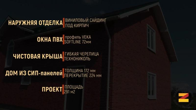 Дом из СИП Панелей ЗАГОРОД