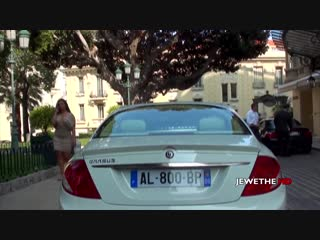 Mercedes-benz brabus cl t13 pulled over by the police in monaco!  gets a fine!