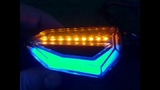 evomosa Universal 12 LED Turn Signal Lights Blinker Front Rear Lights for Motorbike Motorcycle Harle