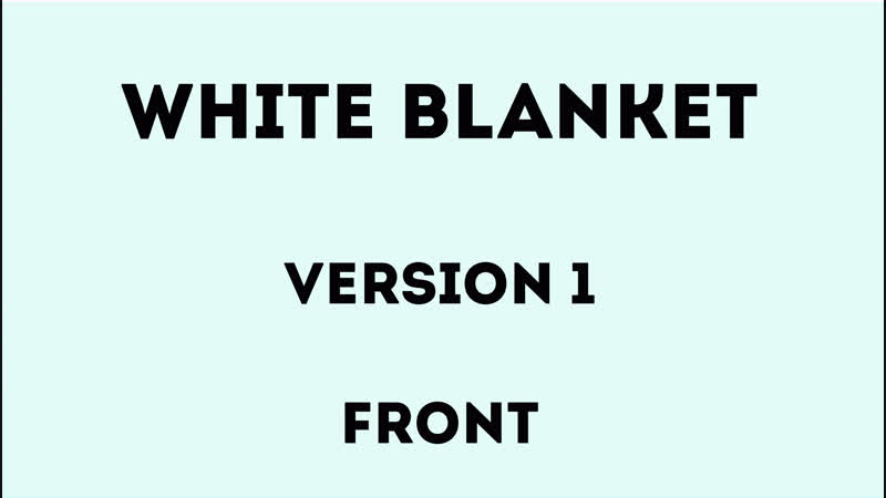 The White Blanket - Version 1 - Front