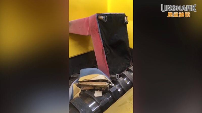 UK Enerpat Double Shaft Shredder Manufacturer for Waste Mattress
