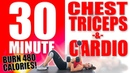 30 Minute Chest, Triceps, and Cardio Workout 🔥Burn 350 Calories!🔥