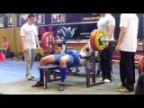 Павел Мясоедко, жим лежа 262,5 килограмма на чемпионате Европы WPA 2012
