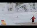 People Dragged out to sea By Massive Waves