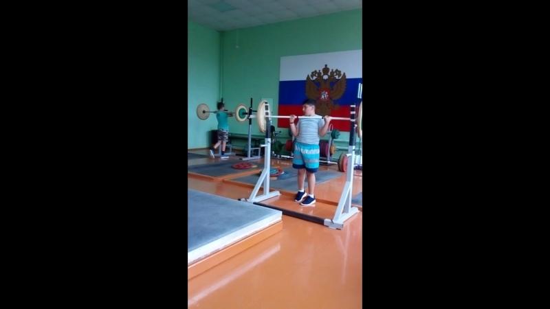 Айказ Агабекян-08 г/р-16 кг,Артём Литвинов-05 гр-18 кг.-шв.ттолч. (наши личные (рекорды)-достижения после 2-х месяцев занятий