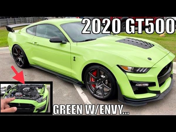 In DETROIT w GRABBER LIME 2020 SHELBY GT500!