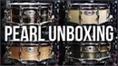 Unboxing FOUR Pearl Sensitone Snare Drums