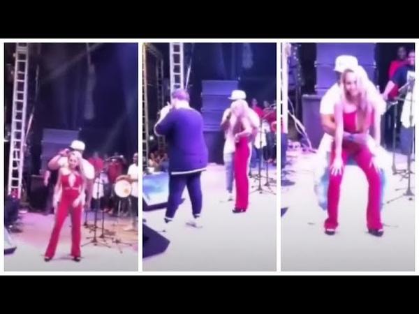 Ferrugem dar bronca em fã que deixou namorada subir no palco e ficou com ciumes após dança!