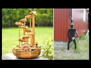 Amazing Home made Inventions - Bamboo water fountain (HammAli & Navai – Пустите меня на танцпол)