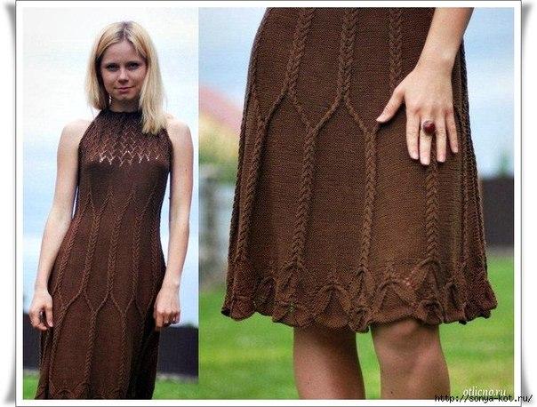 Красивое платье с нежным рисунком (5 фото) - картинка