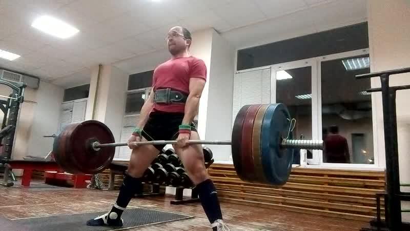 Тяга 190 кг х 3