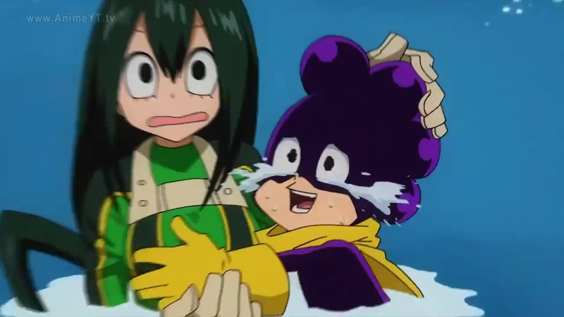 Minoru le agarra los pechos a Tsuyu