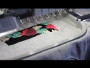 How a Forino floral embroidered logo hoodie is made. Embroidery process.