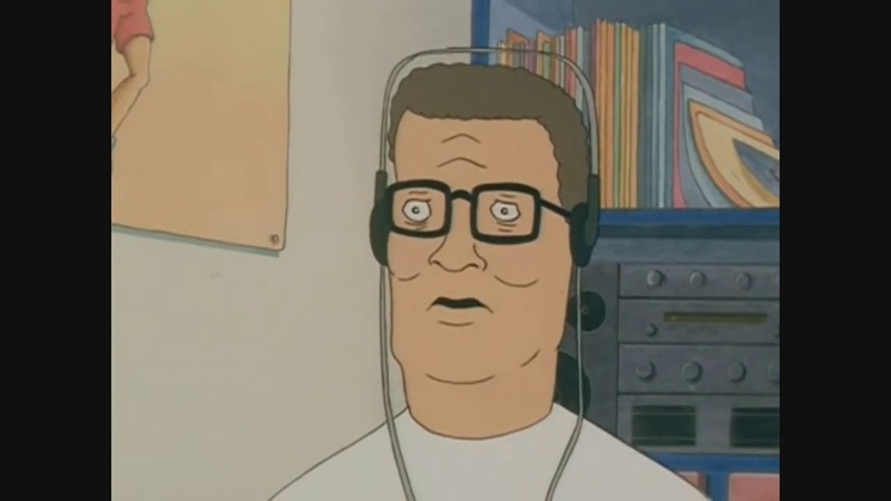 Hank Hill listens to americ anfootball