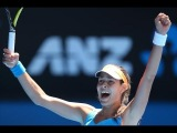The most beautiful girl of the tour beats the 17 times Grand Slam winner at Australian Open 2014