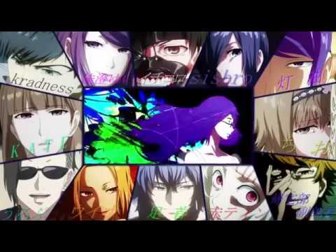 Опенинг Токийского Гуля в исполнении сейю персонажей/Voice Tokyo Ghoul-opening