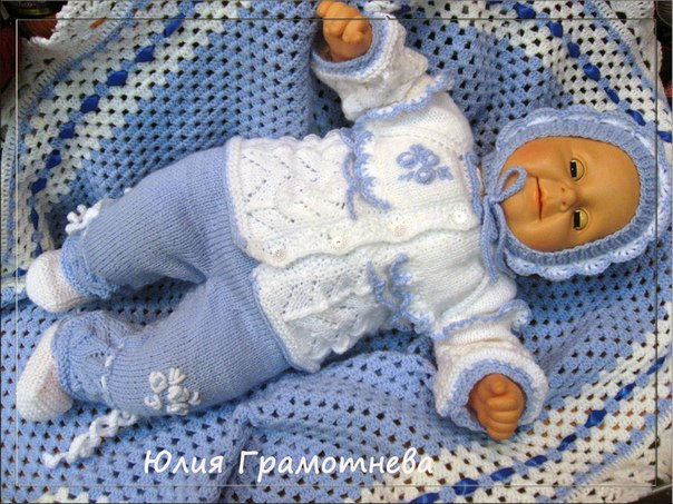 Вязание крючком на мальчика новорожденного 401