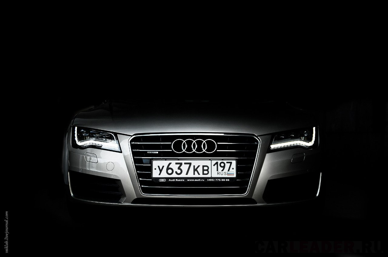 Audi A7 at night