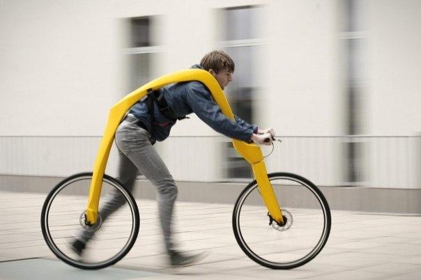 Изобретатель из Германии создал новую концепцию велосипеда без педалей, который называется Fliz Bike.
