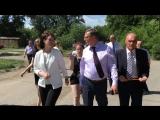 Рабочая поездка Александра Буркова и Оксаны Фадиной по Октябрьскому округу г. Омска