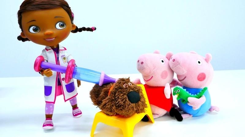 Vamos a Doutora Brinquedos. Peppa Pig Português Brasil. Vídeos educativos com brinquedos.